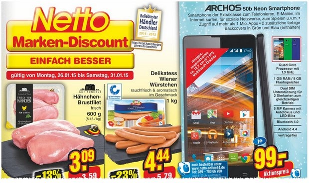 archos 50d neon im kaufland super weekend ab 16. Black Bedroom Furniture Sets. Home Design Ideas