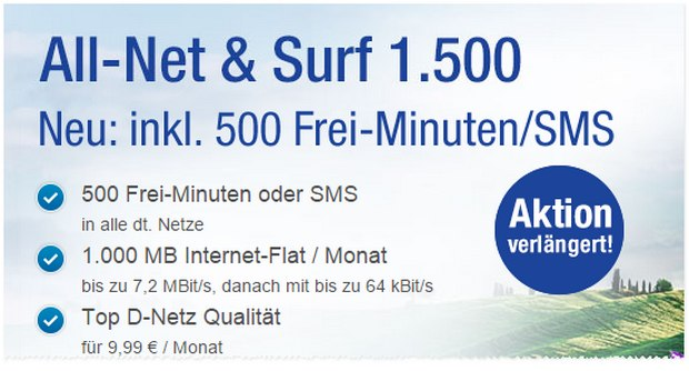 All-Net & Surf 1500 (GMX-Handytarif)