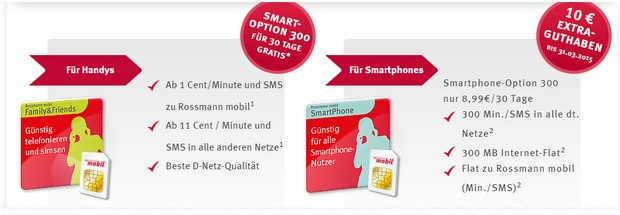 Rossmann mobil Smartphone Option 300