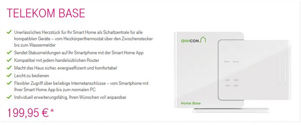 Telekom Smart Home BASE von Qivicon