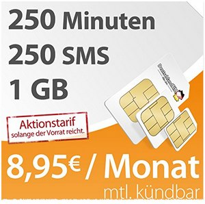 DeutschlandSIM SMART 1000 als Amazon-Aktionstarif