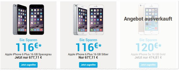 iPhone 6 Plus als Viking-Angebot für 677,11 €