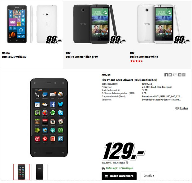 Media Markt Smartphone-Restposten am 4.3.2015