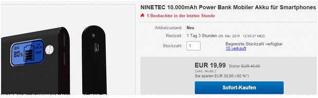 Ninetec PowerBank NT 565