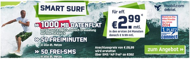 o2 Smart Surf bei getmobile