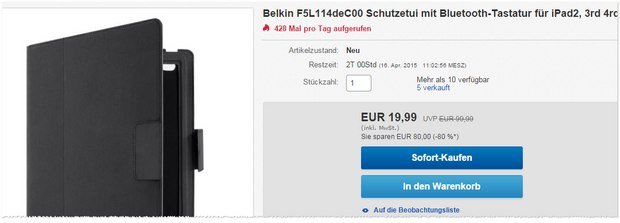 Belkin iPad Etui f5l114deC00