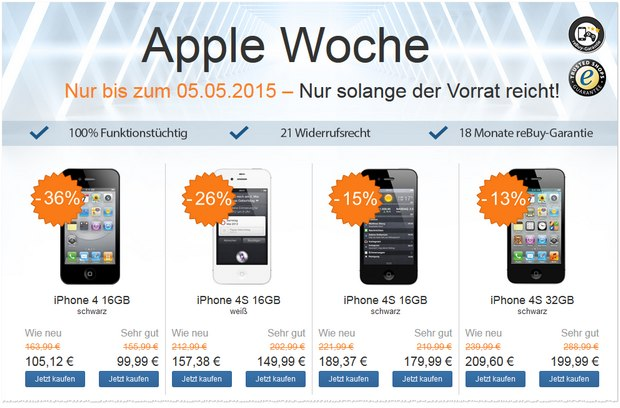 rebuy apple woche bis iphones ipads. Black Bedroom Furniture Sets. Home Design Ideas