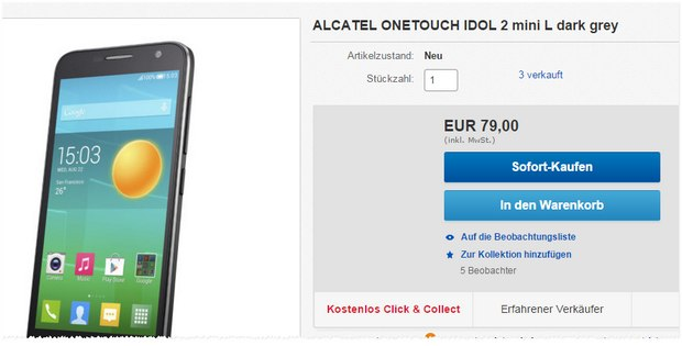 Alcatel One Touch Idol mini 2 bei Media Markt für 79 €