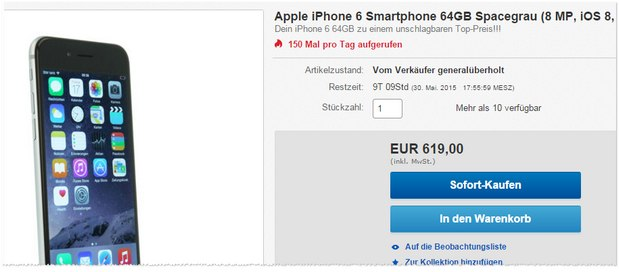 iPhone 6 (64GB) refurbished