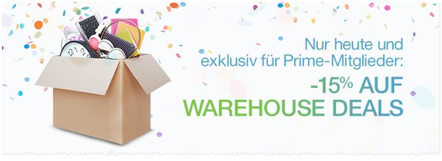Warehouse Deals Rabatt beim Amazon Prime Day