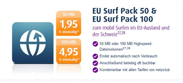 netzclub EU Surf-Packs