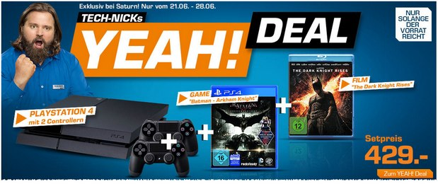 Saturn Montagsangebot mit Yeah! Deal