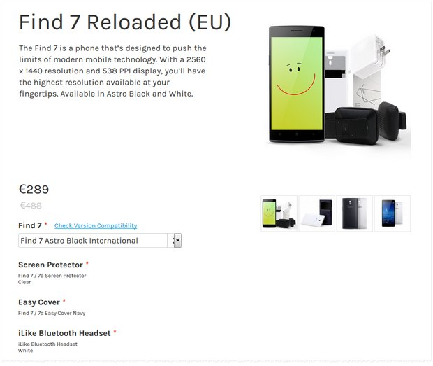 Oppo Find 7 Aktion für 289 €