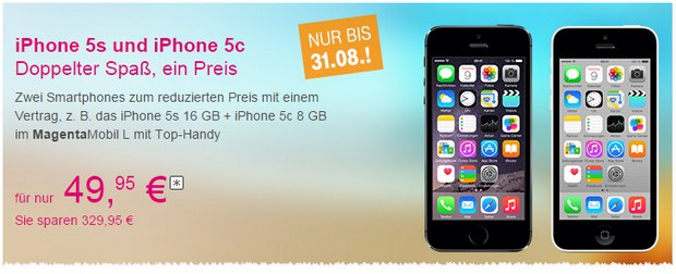 Telekom Sommer-Special mit iPhone 5S/5C