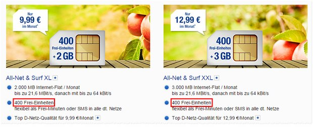 WEB.DE All-Net & Surf XL