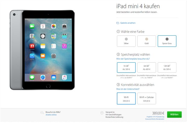 ipad mini wifi 128 gb 250 b ware deal vom 25. Black Bedroom Furniture Sets. Home Design Ideas