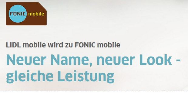 LIDL mobile wird zu FONIC mobile