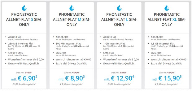 Sparhandy Allnet-Flat SIM-only-Aktion bei den Phonetastic Mondays ab 6,90 €