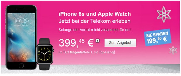 Telekom Magenta Mobil + iPhone 6S (64GB) + Apple Watch