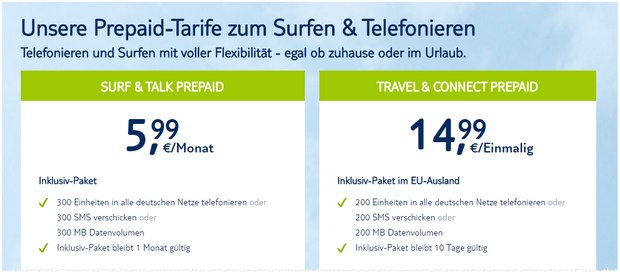 TUI Connect Prepaid-Tarife
