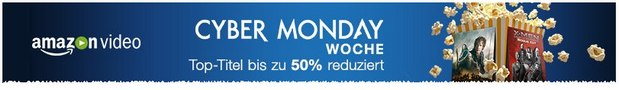 Amazon Video: Blockbuster ab 99 Cent zur Cyber-Monday-Woche