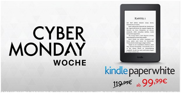 Kindle Paperwhite Aktion zum Cyber Monday