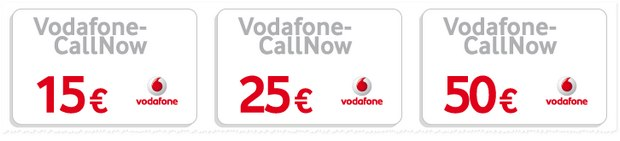 vodafone callnow guthaben prepaid 10 rabatt auf 15. Black Bedroom Furniture Sets. Home Design Ideas