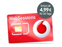 Vodafone Prepaid-Datentarif WebSessions