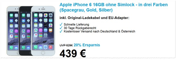 iPhone 6 (16GB) Refurbished-Deal bei eBay