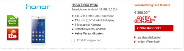 Honor 6 Plus LTE-Smartphone