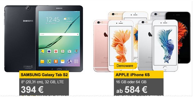 iPhone 6S als Demoware ab 584 €