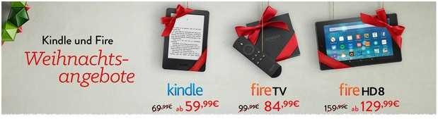 Kindle Fire Weihnachtsangebote