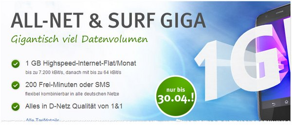 WEB.DE All-Net & Surf Giga