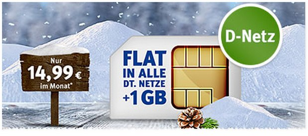 WEB.DE Handytarif All-Net-Flat mit 1 GB