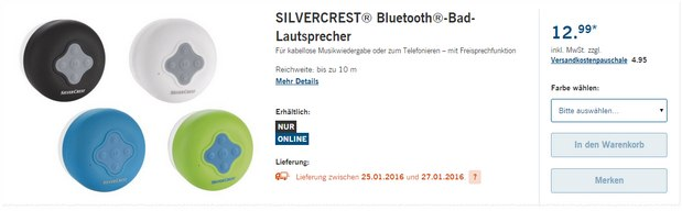 bluetooth bad lautsprecher lidl angebot 25. Black Bedroom Furniture Sets. Home Design Ideas