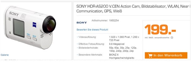 sony action cam als saturn angebot 6 199. Black Bedroom Furniture Sets. Home Design Ideas