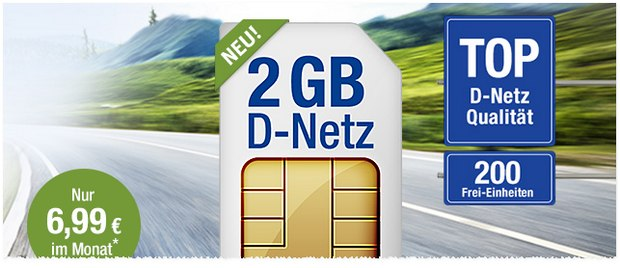 6,99 Euro 1&1 All-Net & Surf 2GB