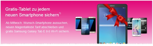 Telekom-Aktion mit gratis Tablet