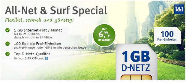 WEB.DE Handytarif All-Net & Surf Special
