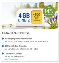 1&1 All-Net & Surf XL 4GB
