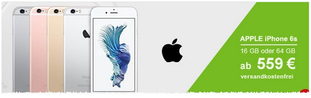 iPhone 6S Demoware für 559 €