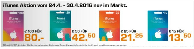 Saturn-Prospekt ab 27.4.2016 mit iTunes-Aktion