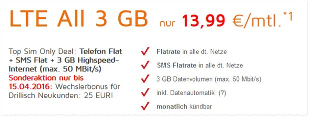 SimDiscount LTE All 3GB