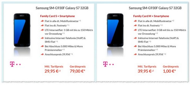 Telekom Family Card S + Samsung Galaxy S7