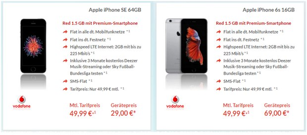 Vodafone Red 1,5GB + iPhone SE