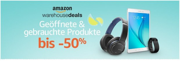 Amazon Warehouse Deals mit bis zu 50% Rabatt
