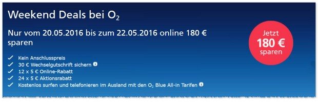o2 Weekend-Deals-Rabatt-Aktion