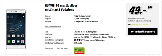 Vodafone Smart L (md) + Huawei P9