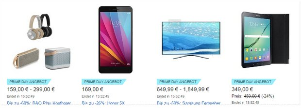Amazon Honor 5X als Prime-Day-Angebot am 12.7.2016 für 169 €