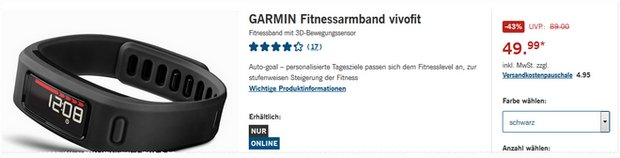 garmin vivofit 3 lidl angebot ab 22. Black Bedroom Furniture Sets. Home Design Ideas